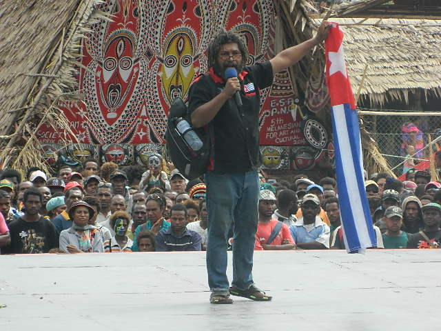 Free West Papua Campaign PNG Coordinator, Fred Mambrasar1